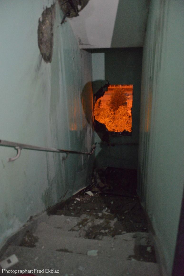 Al Wafa hospital damage