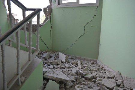 El-Wafa hospital after five air strikes on July 11, 2014. (Photo: Charlie Andreasson/IMEMC)