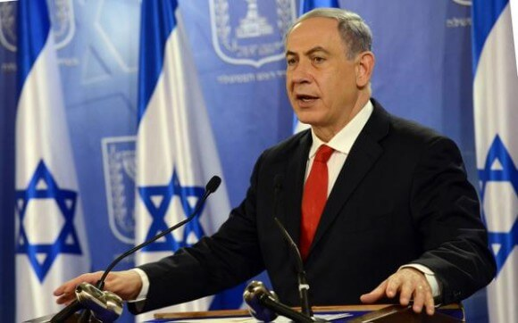 Netanyahu at the Defense Ministry in Tel Aviv