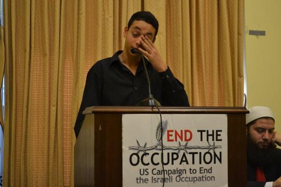 Tariq Abu Khdeir testifying in Washington