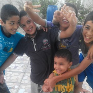 My cousins and brothers were happy (Photo: Rana Alshami)