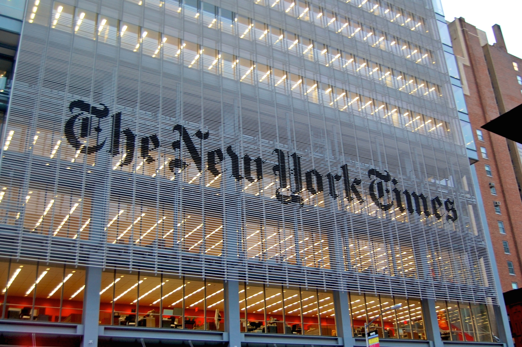 New York Times headquarters.