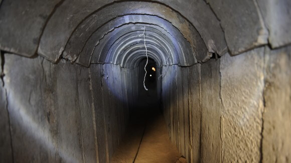 A view of a tunnel reportedly dug by Palestinians beneath the border between the Gaza Strip and Israel from 2013. (Photo: DAVID BUIMOVITCH AFP/Getty Images)