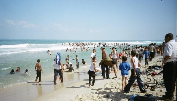 Gaza beach, by Pamela Olson