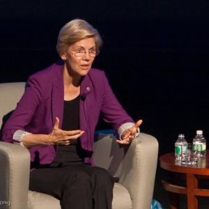 Eliz. Warren at Tufts last September, (c) Pat Westwater-Jong