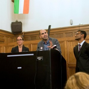 Steven Salaita speaking at the University of Illinois, September 9, 2014. (Photo: Facebook)