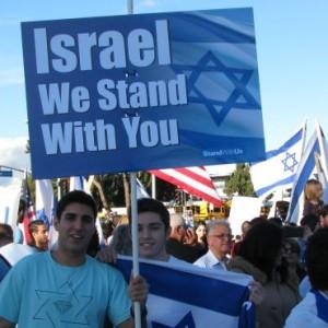 A pro-Israel rally in Los Angeles. (Photo: Adam Milstein)
