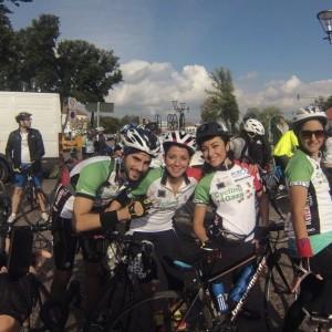 Cycling4Gaza 2013 Berlin Ahmed Abu Chaaban, Lina Abu Chaaban, Alia Mobayed and Reema Attyeh (Photo:C4G)
