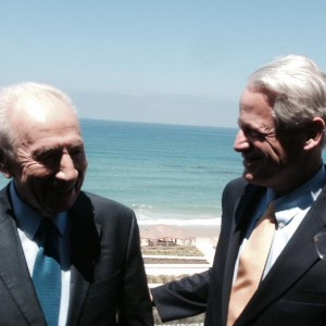 Shimon Peres and Steve Israel