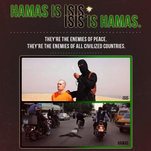 """""""Hamas is ISIS"""" meme tweeted by Israeli Prime Minister Benjamin Netanyahu."""
