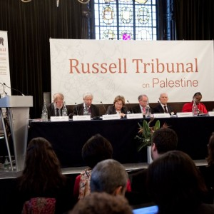 "London session of the Russel Tribunal on Palestine in November 2010 which explored. ""Corporate Complicity in Israel's violations in international human rights law and international humanitarian law"". (Photo: Kristian Buus/Russel Tribunal)"