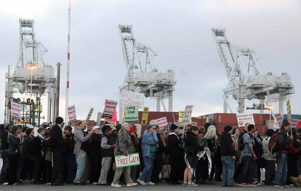 Block the Boat for Gaza, in Oakland (Photo: Facebook)