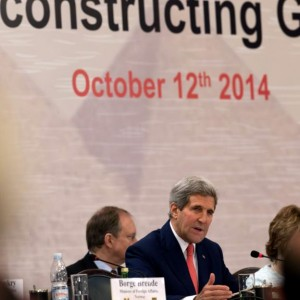 U.S. Secretary of State John Kerry speaks during the Gaza Donor Conference in Cairo, Egypt, Oct. 12, 2014. (Photo: AP)