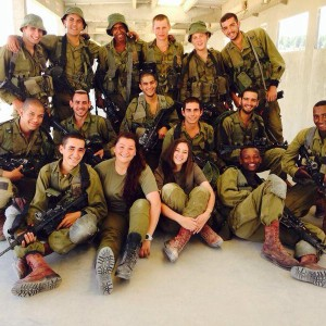 Israeli army unit posted to Facebook page by Isabel Kershner's son. (Photo: Facebook)