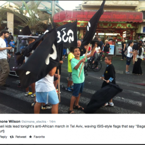 ISIS style adopted by rightwingers in Tel Aviv
