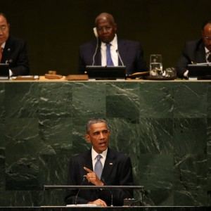 President Barack Obama speaks during the general debate of the 69th session of the United Nations General Assembly at the United Nations headquarters in New York on Sept. 24, 2014. (Photo: Justin Lane—EPA)
