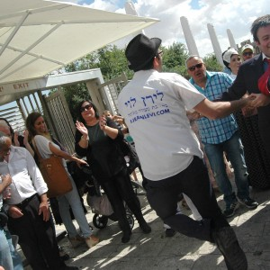 Photo by Allison Deger of rightwing Jewish activists in Old City