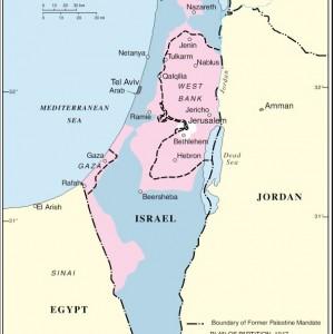 Partition plan, UN 1947, with '49 armistice delineated