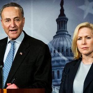 New York Sens. Charles Schumer and Kirsten Gillibrand in 2012. (Photo: PAUL J. RICHARDS/AFP)