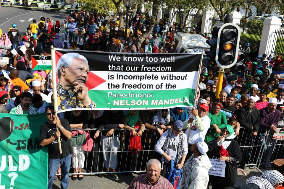 South Africans march in solidarity with Gaza, in Cape Town, South Africa, on August 9, 2014.  (Photo: Che Erasmus Nche/Eras Media Productions)