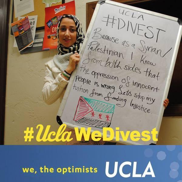 (Image: UCLA Divest Facebook page)