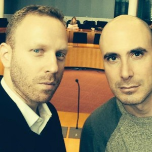 Max Blumenthal and David Sheen in the German Bundestag. November 10, 2014. (Photo: Twitter)