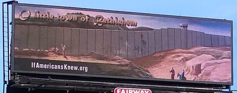Bethlehem billboard located on I-85 near Indian Trail Road, Atlanta (photo: If Americans Knew)