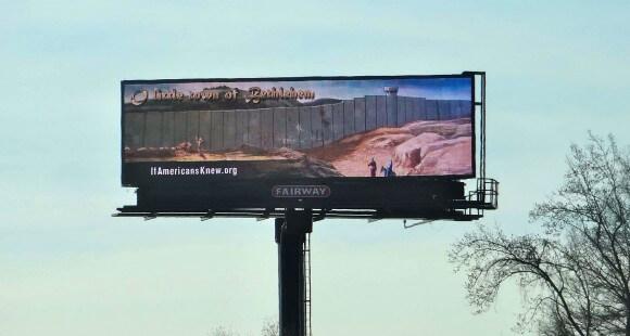 Bethlehem billboard (photo: If Americans Knew)