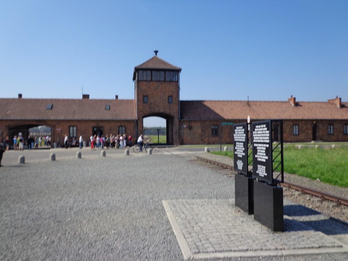 Birkenau, the iconic main building, photo by Scott Roth