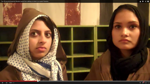 Two American women in Ibrahimi mosque