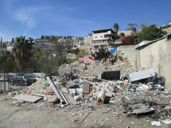 Demolished house in Silwan