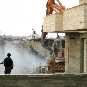 House demolition in Jerusalem in 2007, photo  from ICAHD
