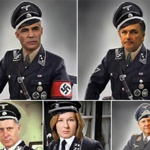 Fabricated images of Israeli politicians in Nazi uniforms, captured by Times of Israel