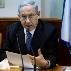 Israeli Prime Minister Benjamin Netanyahu speaks during in his Cabinet meeting in his office in Jerusalem on Sunday. (Photo: Jim Hollander/AP/ABC News)