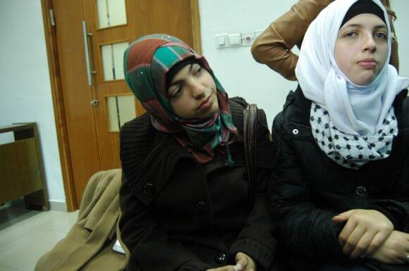 Relatives of Mohammed Abu Khdeir, Jerusalem District Court, November 17, 2014. (Photo: Allison Deger)