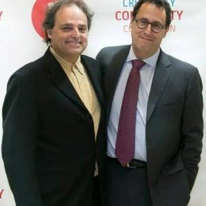 Ari Roth (l) and Tony Kushner