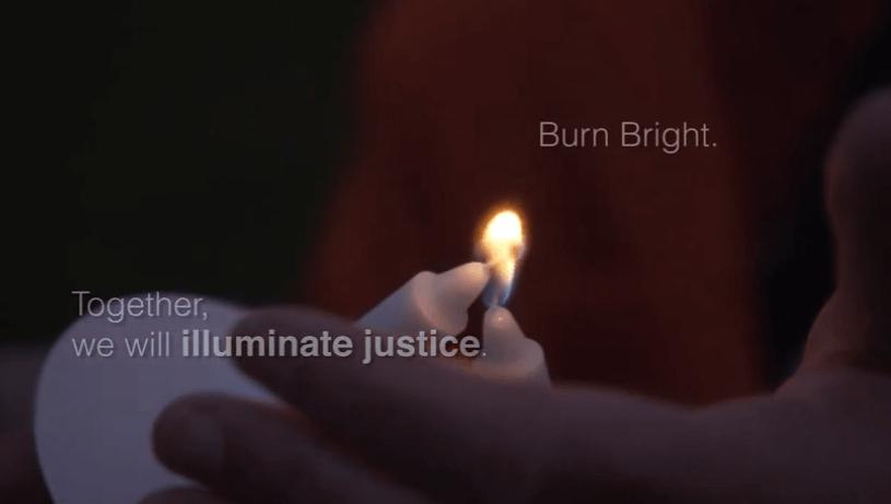 Screen shot: Jewish Voice for Peace - Chanukah 2014