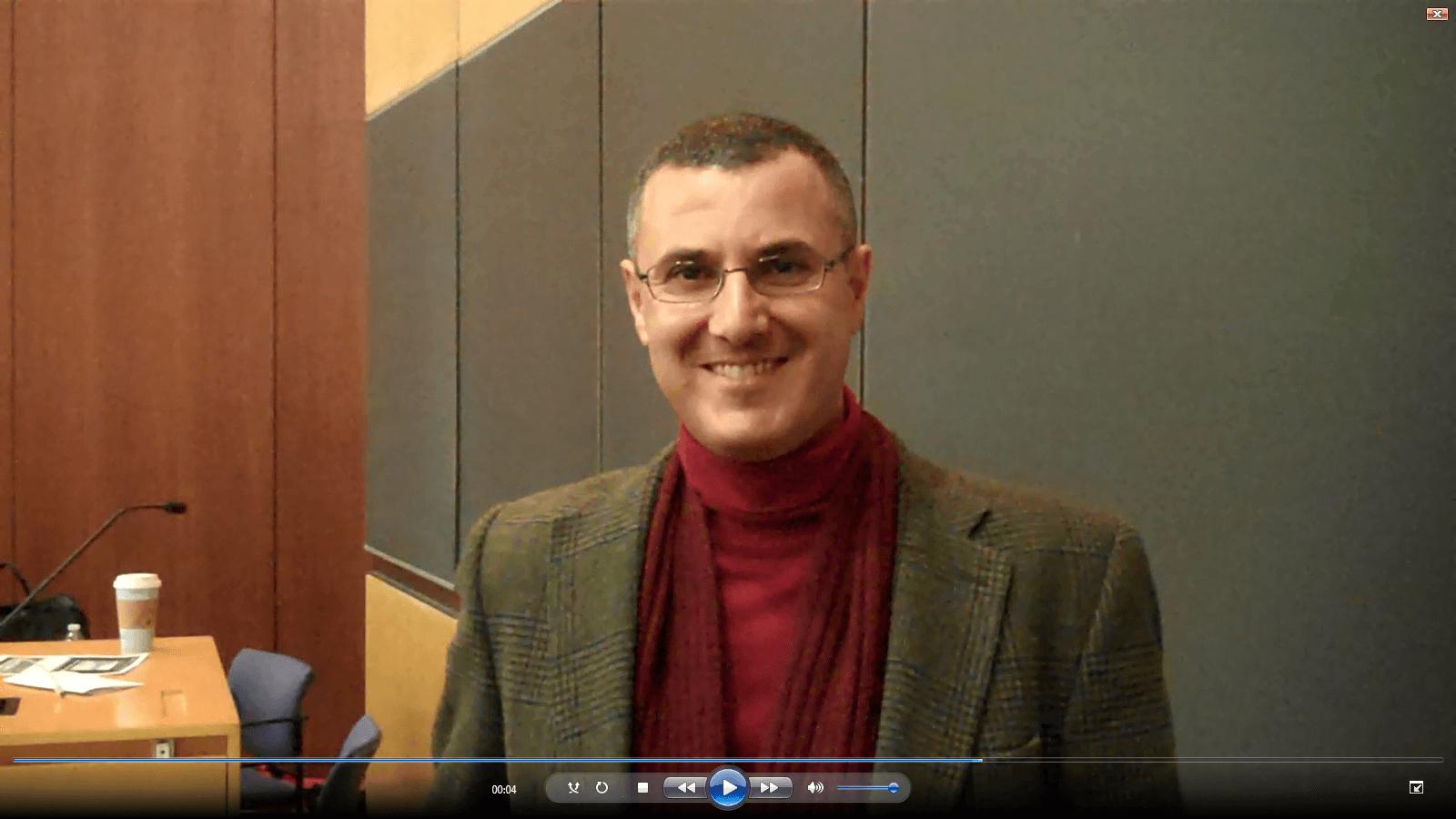 Omar Barghouti at Columbia Law School, Dec. 2, 2014