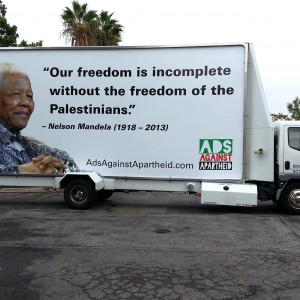 Ads Against Apartheid's Mandela campaign in Los Angeles (photo: Jeff Warner)