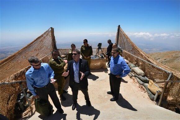Deputy Secretary of Defense Ashton B. Carter, center, visits an Israel Defense Force outpost, July 22, 2013. DOD photo by Marine Corps Sgt. Aaron Hostutler