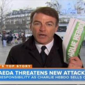 Bill Neely on NBC News, not showing Charlie Hebdo cover