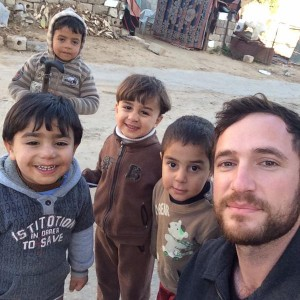"""Selfie with the greatest threat to Israel"" -- Dan Cohen in Khuza'a"