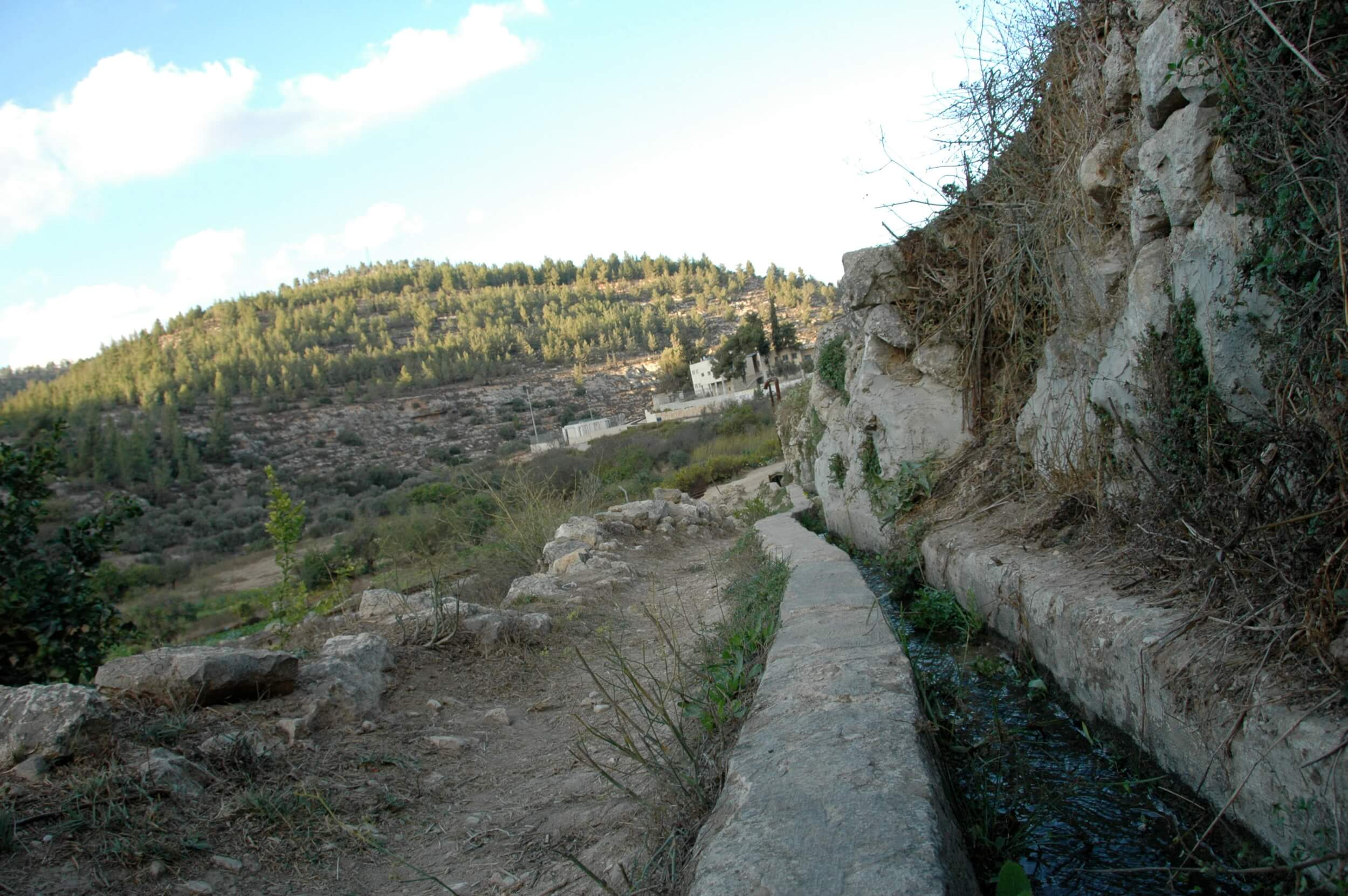 A view of the irrigation channels flowing down one side of Battir to the valley. (Photo: Sarah Levy)