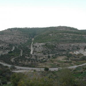 A view from Battir looking North, taken from very close to the green line. The Israeli railroad that runs through Battir does not stop in the village and is only for Israeli use. (Photo: Sarah Levy)
