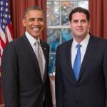 Ron Dermer and President Obama, a year ago