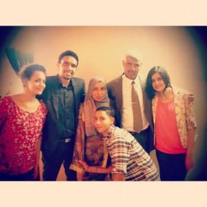 Tamam Abu Salama and her family. Gaza Strip 2012