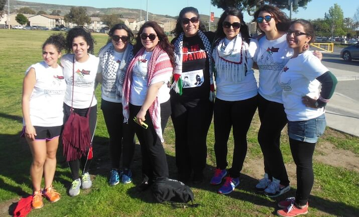 Members of the Palestinian Youth Movement – San Diego.