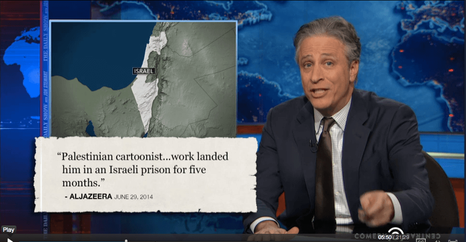 Screen shot: The Daily Show January 12, 2015