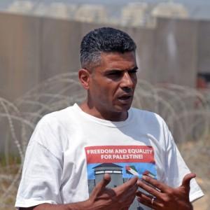 Iyad Burnat, filmmaker and activist, in Bil'in