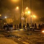 Bedouins clash with Israeli police in the southern Israeli city of Rahat on January 19, 2015 (Photo: Menahem Kahana/AFP)